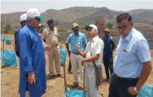 Visit of Environment expert Dr Afroz Ahemad to Shirase plot